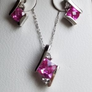 Jewelry - Pink Sapphire in 10k White Gold.